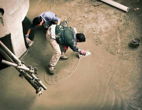 روکش آب بند پلیمری الاستومری پوشش واترپروف سطوح بتنی جهت ایزولاسیون مخازن ، استخر ها و سازه های آبی با استفاده از توری مش فایبرگلاس